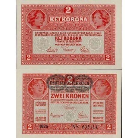 Autriche - Pk N° 50 - Billet de 2 Kronen