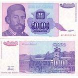 Billet de collection Yougoslavie Pk N° 130 - 50000 Dinara