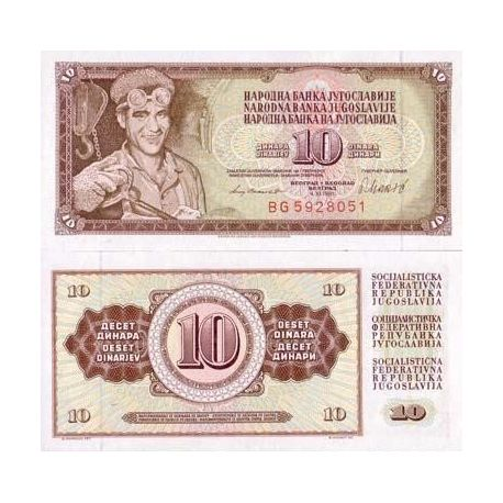 Billets collection Yougoslavie Pk N° 82 - 10 Dinara