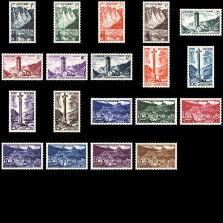 Timbre Andorre N° 138 au N° 153 neuf sans charnière