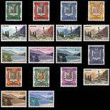 Sello de Andorra N° 153A al N° 164 nueve sin bisagra