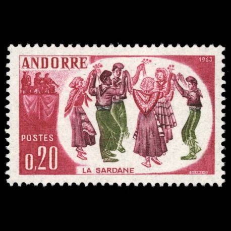 Timbre Andorre N° 166 neuf sans charnière