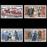 Francobollo d'Andorra N° 167 al N° 170 nove senza cerniera