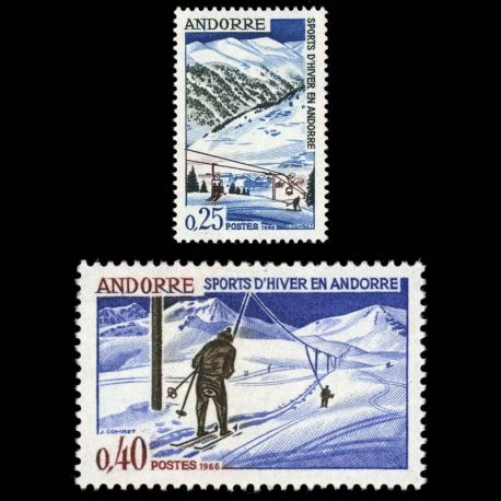 Andorre - N° 175 au N° 176 - Neuf sans charnière