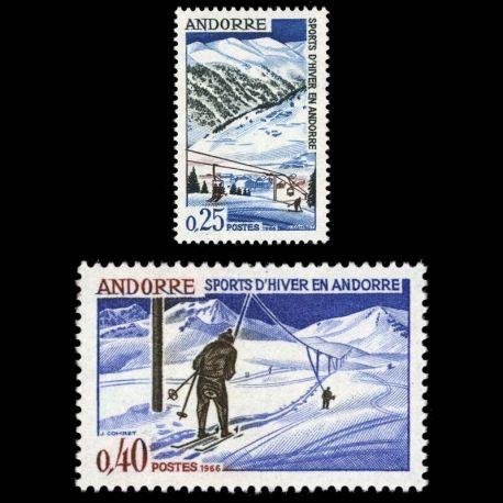 Timbre Andorre N° 175 au N° 176 neuf sans charnière