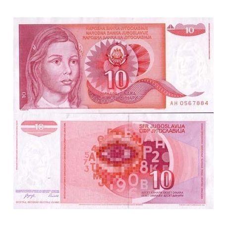 Yougoslavie - Pk N° 103 - Billet de 10 Dinara
