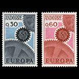 Francobollo d'Andorra N° 179 al N° 180 nove senza cerniera