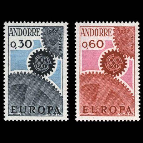 Timbre Andorre N° 179 au N° 180 neuf sans charnière