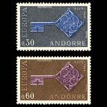 Andorra Briefmarken N° 188 N° 189 Postfrisch
