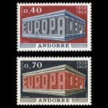 Francobollo d'Andorra N° 194 al N° 195 nove senza cerniera
