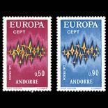 Andorra Briefmarken N° 217 bis N° 218 Postfrisch