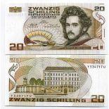 Billet de 20 Schilling Pk N° 148 billet de collection Autriche