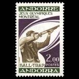 Sello de Andorra N° 256 nueve sin bisagra
