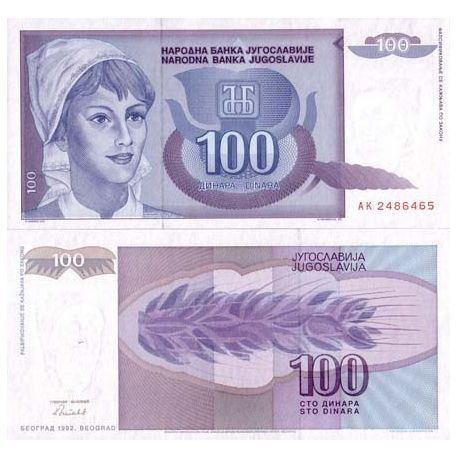 Jugoslawien - Pk Nr. 112 - 100 Dinara banknote