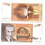 Billetes banco Yugoslavia PK N° 107 - 1000 Dinara