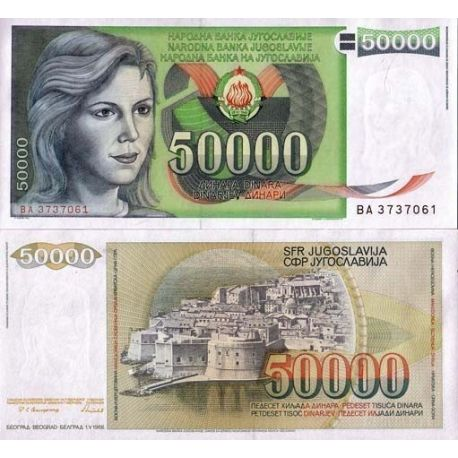 Billets collection Yougoslavie Pk N° 96 - 50000 Dinara