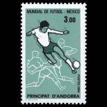 Sello de Andorra N° 350 nueve sin bisagra