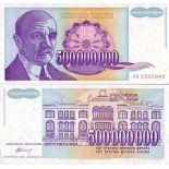 Banknotes Yugoslavia Pick N° 134 - 500 MILLET Dinara