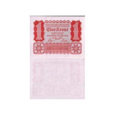 Autriche - Pk N° 73 - Billet de 1 Kronen