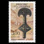 Francobollo d'Andorra N° 381 nove senza cerniera