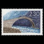 Francobollo d'Andorra N° 385 nove senza cerniera