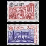 Francobollo d'Andorra N° 388 al N° 389 nove senza cerniera