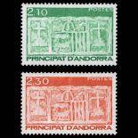 Francobollo d'Andorra N° 390 al N° 391 nove senza cerniera