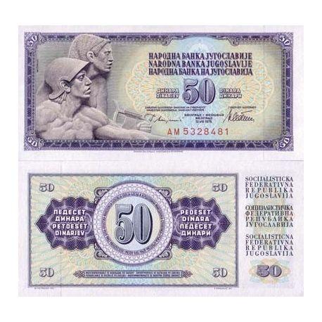 Billets de banque Yougoslavie Pk N° 89 - 50 Dinara