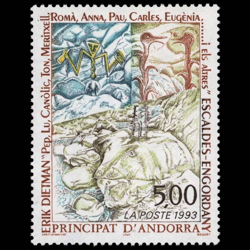 Art Andorra Timbre Andorre Neuf** N° 377 Village De Pal En Hiver