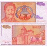 Billetes banco Yugoslavia PK N° 142 - 50000 Dinara