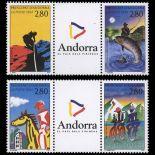 Timbre Andorre N° 450A au N° 450B neuf sans charnière