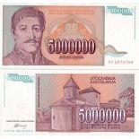 Billets collection Yougoslavie Pk N° 132 - 5 MIL Dinara