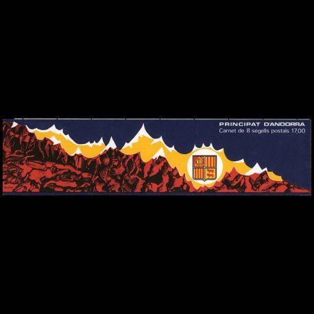 Timbre Andorre N° 1 Carnet neuf sans charnière