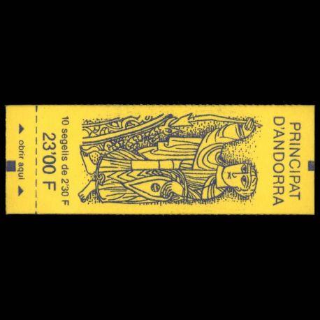 Timbre Andorre N° 3 Carnet neuf sans charnière