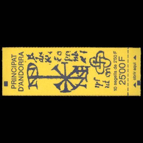 Timbre Andorre N° 4 Carnet neuf sans charnière