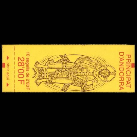 Timbre Andorre N° 5 Carnet neuf sans charnière