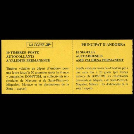 Timbre Andorre N° 6 Carnet neuf sans charnière
