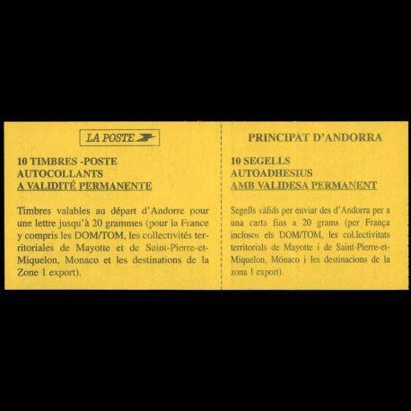 Timbre Andorre N° 7 Carnet neuf sans charnière