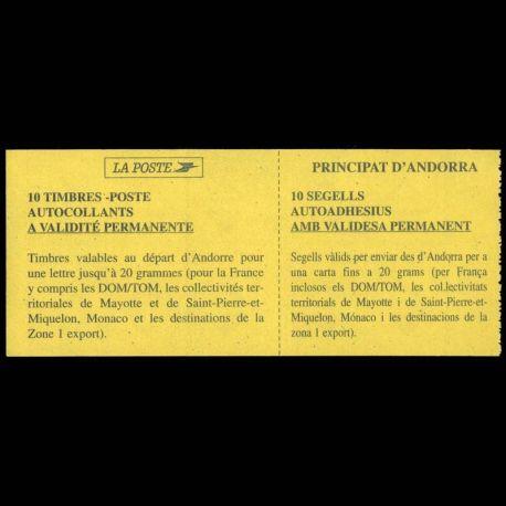 Timbre Andorre N° 8 Carnet neuf sans charnière
