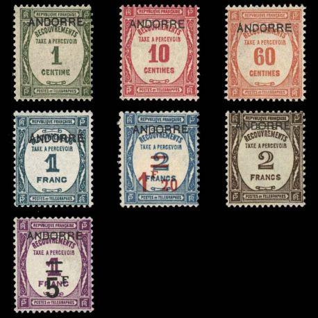 Andorre - N° 9/15 TT - Neuf sans charnière