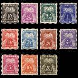 Andorra Stamp N° 21/31 Tax Mint NH