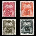 Andorra Porto Marken N° 42/45 Postfrisch