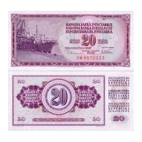Billet de collection Yougoslavie Pk N° 88 - 20 Dinara