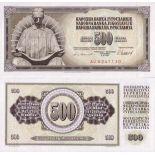 Billets de banque Yougoslavie Pk N° 91 - 500 Dinara