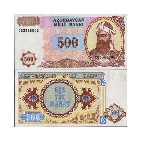 Billets de collection Billet de banque Azerbaidjan - Pk N° 19 - Billet de collection de 500 Manat Billets d'Azerbaidjan 3,50 €