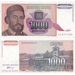 Billets de banque Yougoslavie Pk N° 140 - 1000 Dinara