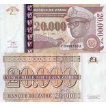 Billets de banque Zaire Pk N° 72 - 20000 Zaires