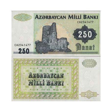 Azerbaidjan - Pk N° 13 - Billet de 250 Manat