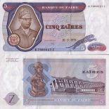 Sammlung von Banknoten Zaire Pick Nummer 22 - 5 Zaire