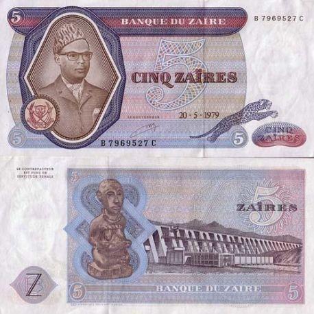 Zaire - Pk Nr. 22-5 neue Makuta ticket